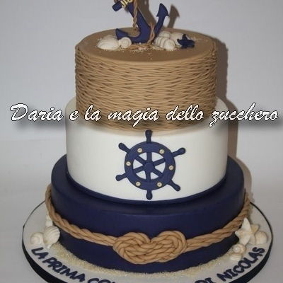 Nautical Communion Cake