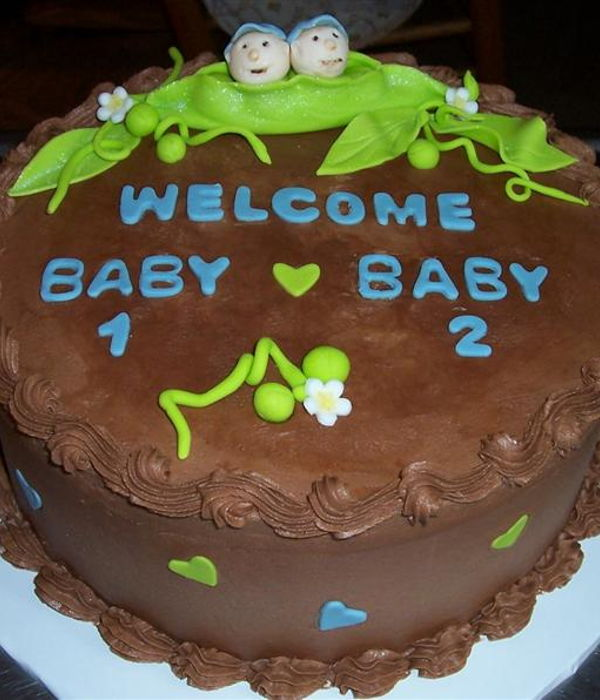 Cake For Twin Boys