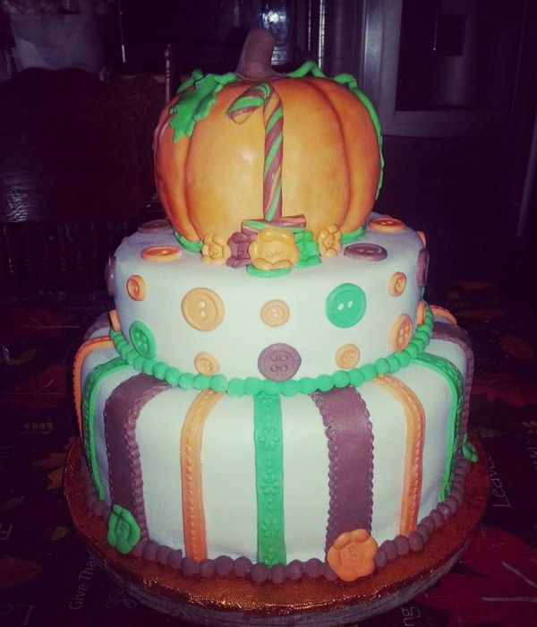 First Birthday Little Pumpkin Cake