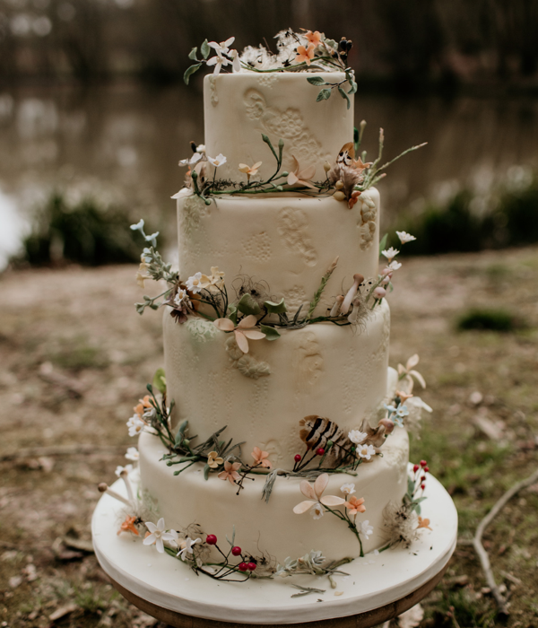 Woodland Enchanted Forest Wedding Cake