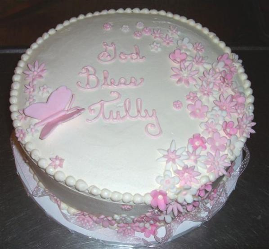 Christening Cake For Tully on Cake Central