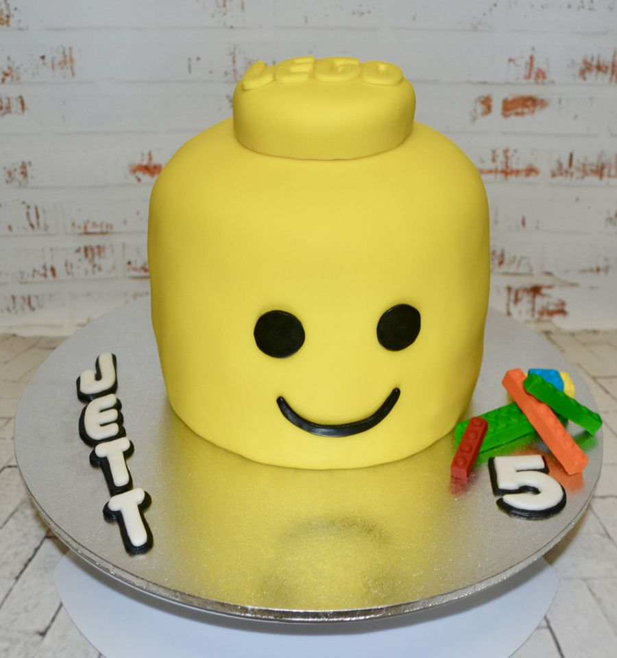 Lego Head on Cake Central