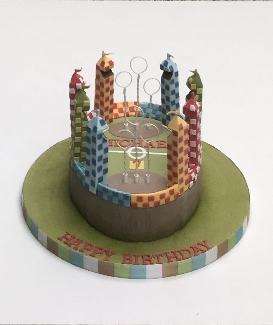 Quidditch Pitch on Cake Central