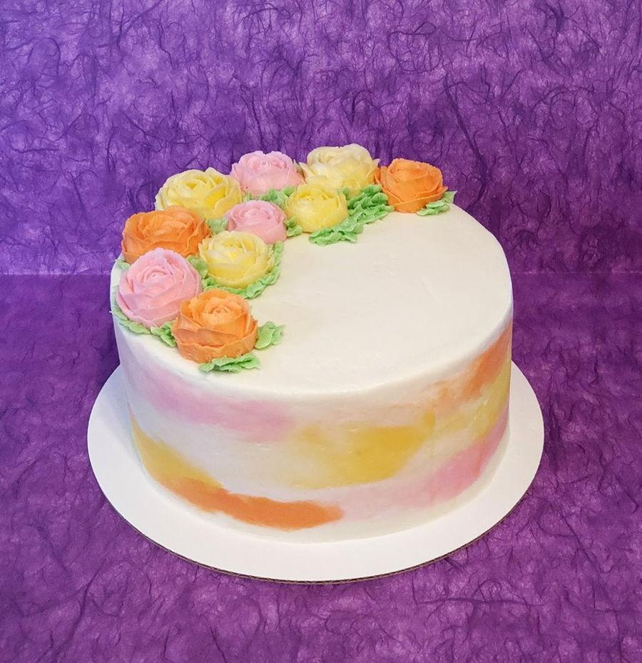 Phenomenal Spring Birthday Cake Cakecentral Com Funny Birthday Cards Online Inifodamsfinfo