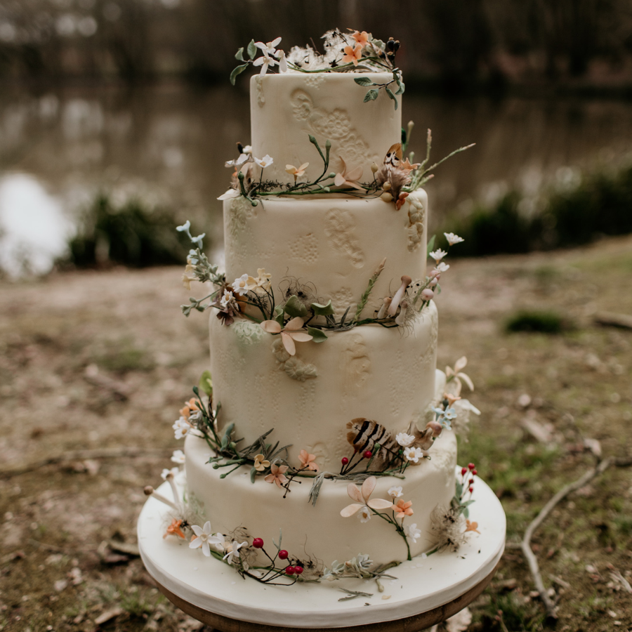 Woodland Enchanted Forest Wedding Cake - CakeCentral.com