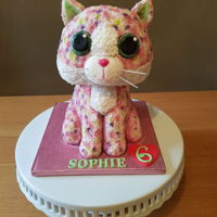 Beanie Boo Cake. Beanie boo cake I made last year for my niece. www.facebook.com/TheCakeNook
