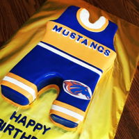 High School Wrestling Cake Go Mustangs!