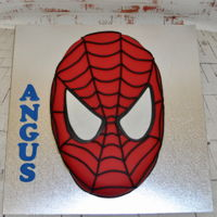 Spiderman Vanilla Cake with Fondant