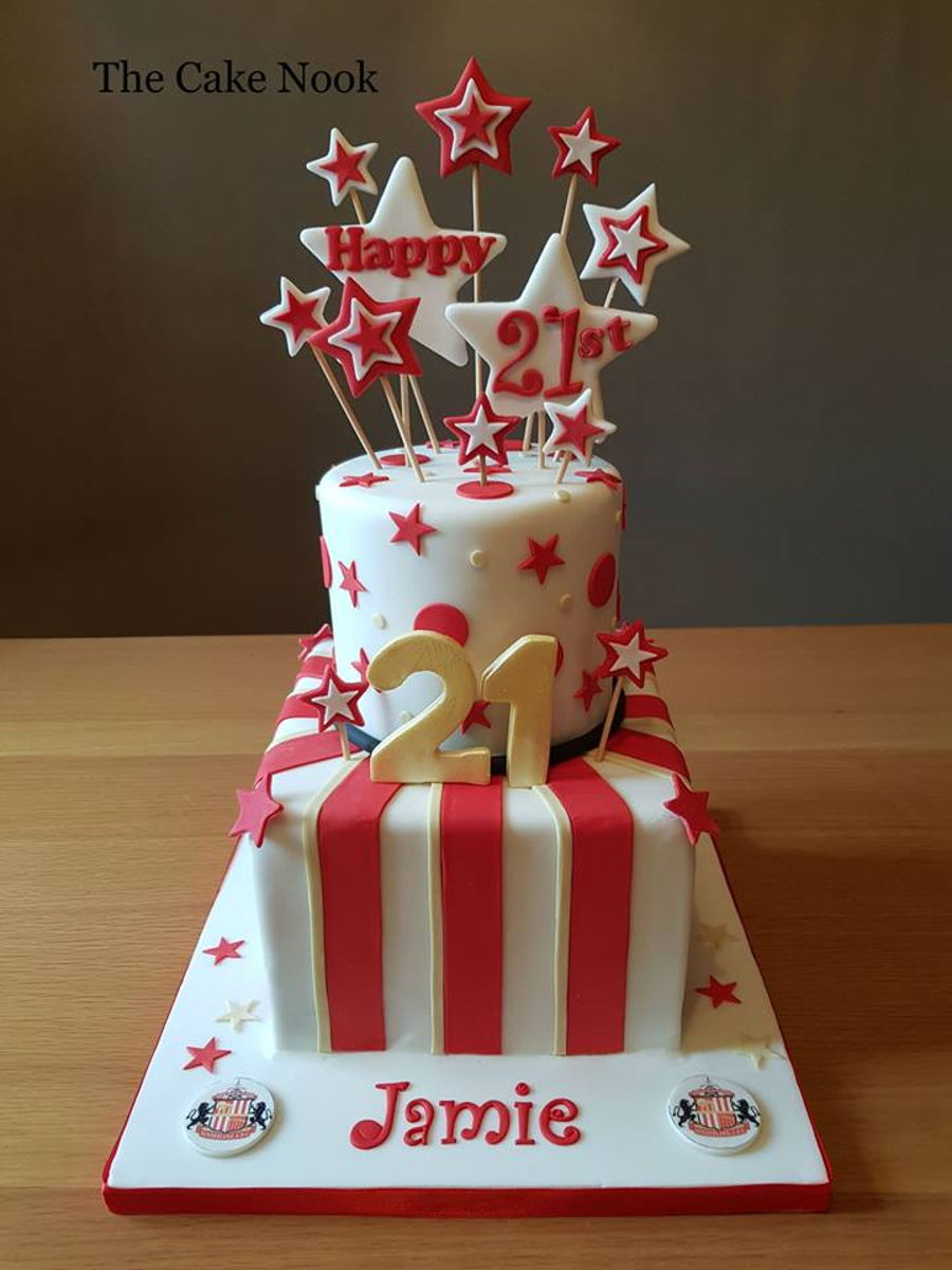 Sunderland Football Themed Cake. on Cake Central
