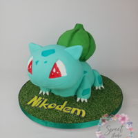 Bulbasaur Pokemon Cake Sculpted bulbasaur pokemon cakr