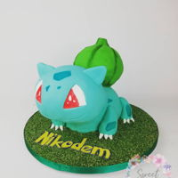 Bulbasaur Pokemon Cake Sculpted bulbasaur pokemon cake Http://www.instagram.com/sweetstudio.ie Www.facebook.com/sweetstudio.ie