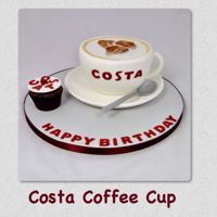Costa Coffee Anyone? Loved making this fun cake. It was the cake that was requested the most. So easy to make and perfect for coffee/cocoa/tea lovers of all...