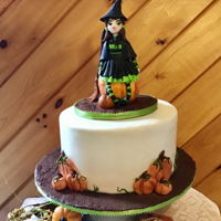 Halloween Birthday Gumpaste witch topper