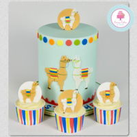 No Drama Llama! I enjoyed designing and making this birthday Llama themed celebration cake. The blue with the strong colours worked fabulous together and...