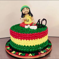 Rasta Man Looks like a standard size cake right?Wrong.. Don't let pics deceive you! Swipe