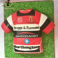 Rugby Shirt Cake Rugby shirt cake