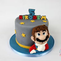 Super Mario Cake Super Mario themed cake Http://www.instagram.com/sweetstudio.ie Http://www.facebook.com/sweetstudio.ie