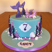 Under The Sea/mermaid Cake Cake for my nieces birthday. Victoria Spongr with raspberry jam and buttercream