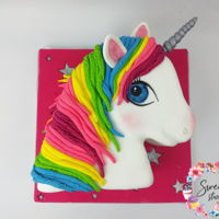 Unicorn Cake Unicorn head birthday cake for my daughter Http://www.instagram.com/sweetstudio.ie Http://www.facebook.com/sweetstudio.ie