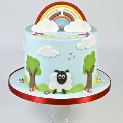 Fluffy Clouds & Rainbows on Cake Central