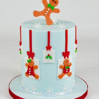 Gingerbread Boy & Girl Christmas Cake on Cake Central