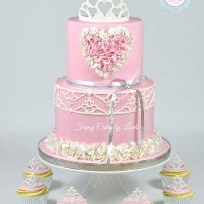 Pretty Princess Tiara & Ruffles Cake on Cake Central