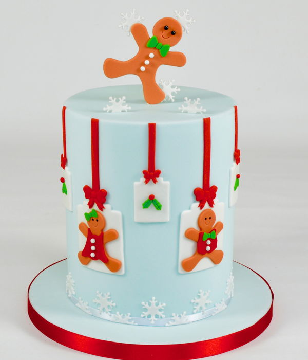 Gingerbread Boy & Girl Christmas Cake