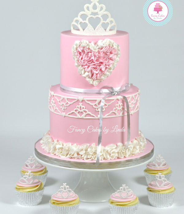 Pretty Princess Tiara & Ruffles Cake