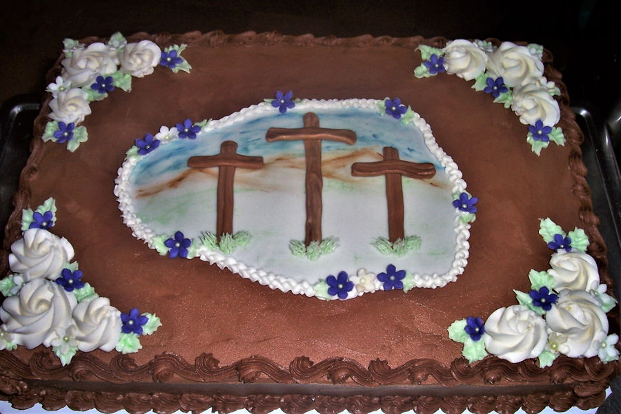 3 Crosses Cake on Cake Central
