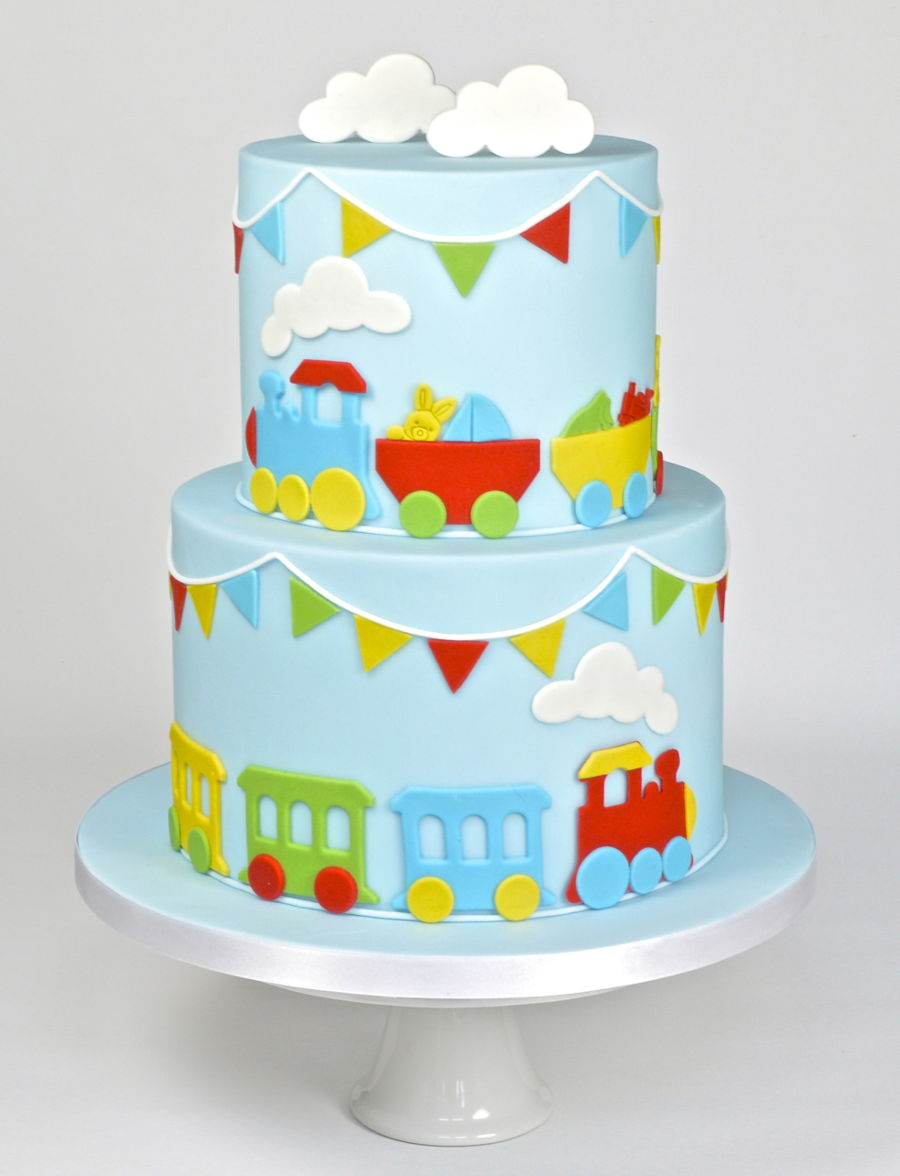 Surprising Choo Choo Train Themed Childrens Birthday Cake Cakecentral Com Personalised Birthday Cards Veneteletsinfo