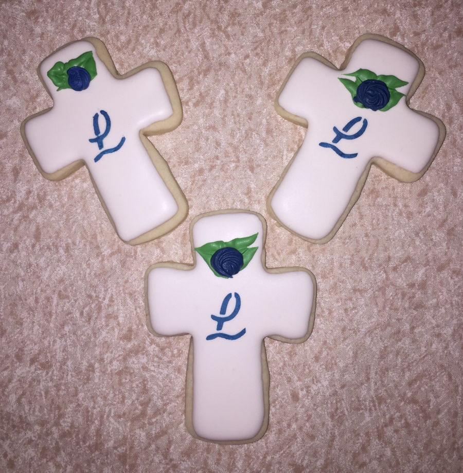 Cross Cookies on Cake Central