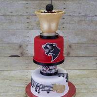 Band Cake Cake for the wonderful band teachers at my son's school. Top tier is vanilla cake, bottom tier is luscious lemon cake. Both have...