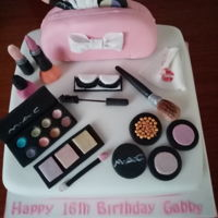 Cosmetics Cake Made for friends daughter