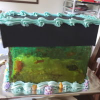Fish Tank Cake With Sugar Glass Sugar glass and my White Supreme Cake made this cake a showstopper at my last vendor show