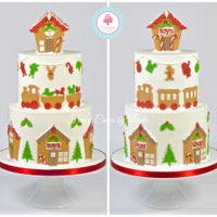 Gingerbread Inspired Fondant Christmas Cake I absolutely loved making this cake from start to finish.  The decorations are all made from fondant yet look like gingerbread. &...
