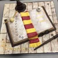 Harry Potter Harry Potter cake I made for my Grandsons birthday. Chocolate cake, peanut butter buttercream with chopped up peanut butter cups in it....