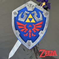 Hylian Shield Cake Sword and shield from Zelda.