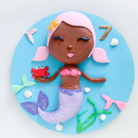 Mermaid Birthday Cake Mermaid Birthday Cake for my daughter's 7th birthday. I've been wanting to try my hand at a mermaid cake. Using a...