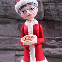 Mrs Claus Cake Topper Santa Claus Cake Topper is my most viewed video on my channel and people are loving it so much that I thought you might want to see how to...