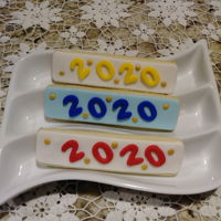 New Year Cookies - 2020 NFSC with fondant.