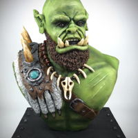 Warcraft Orgrim Doomhammer Bust Cake Warcraft Orgrim doomhammer bust cake, my entry into cake international 2019 at Birmingham NEC England, he won a Gold award