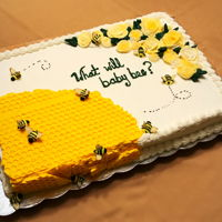 What Will Baby Bee? Buttercream....so fun to do!!