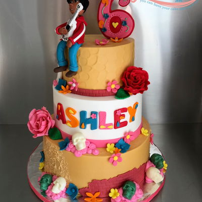 Coco Movie Theme Cake