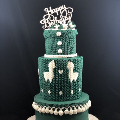 Knit Birthday Cake