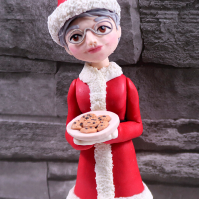 Mrs Claus Cake Topper