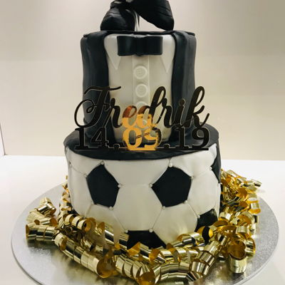 Soccer Cake With Tuxido