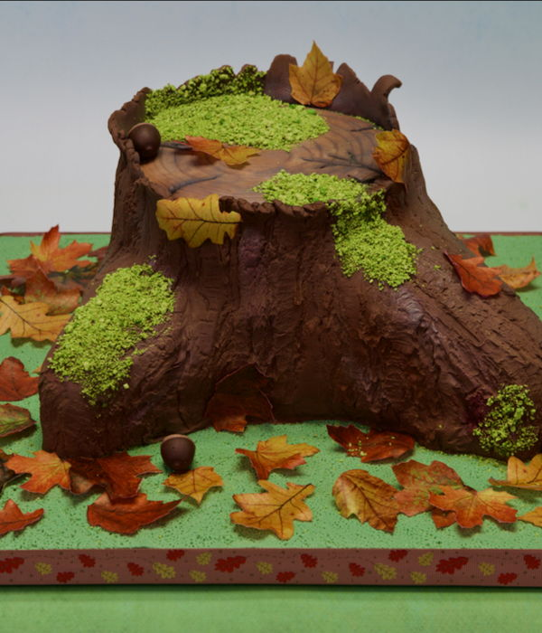 Autumn Stump Cake