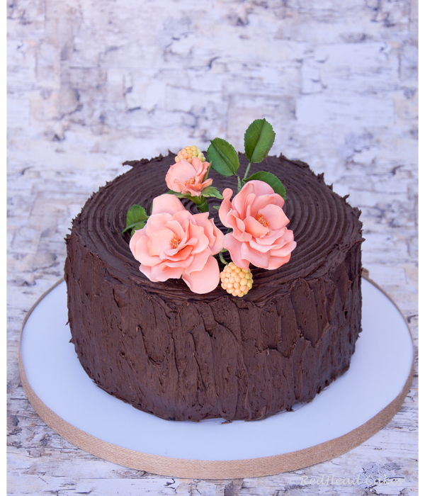 Chocolate Buttercream With Tea Roses