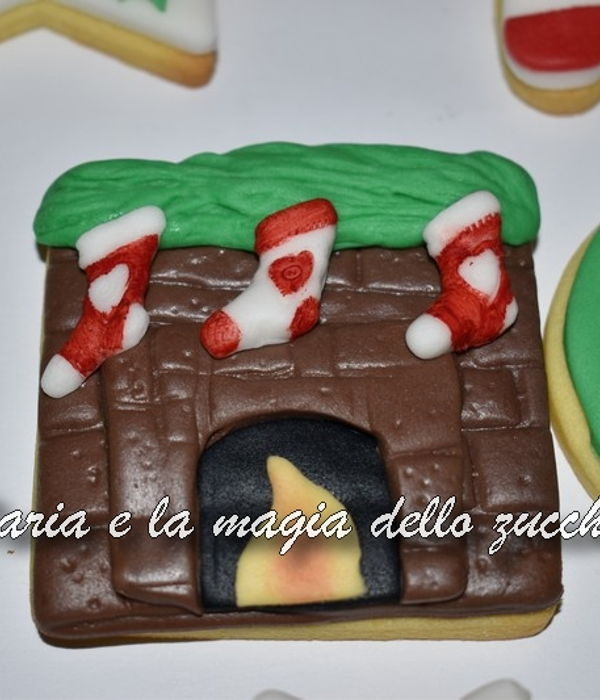 Christmas Fireplace Cookie