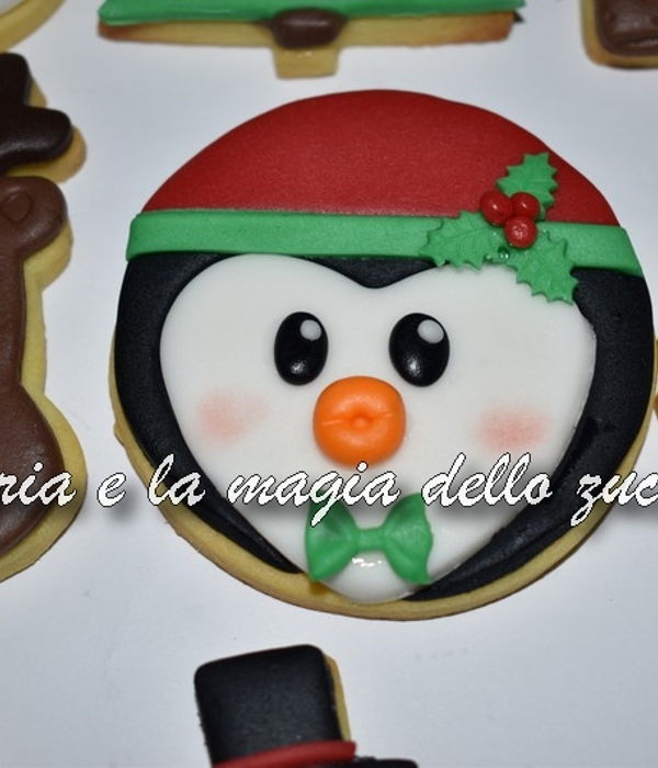 Christmas Penguin Cookie